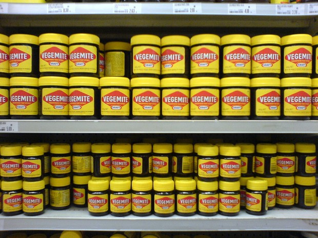 vegemite on a supermarket shelf
