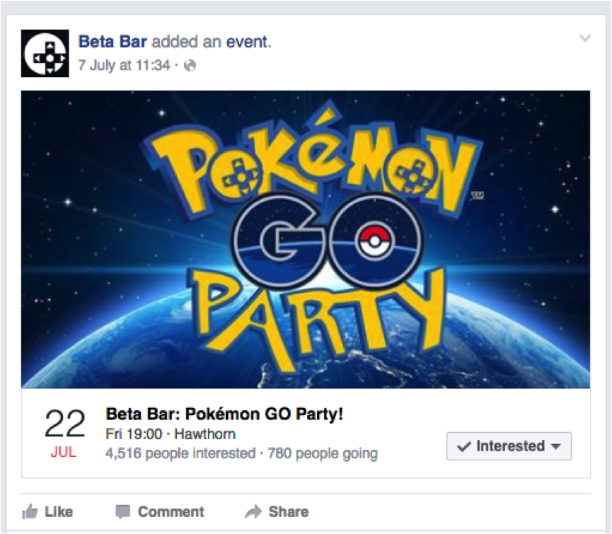 beta bar pokemon facebook event invitation