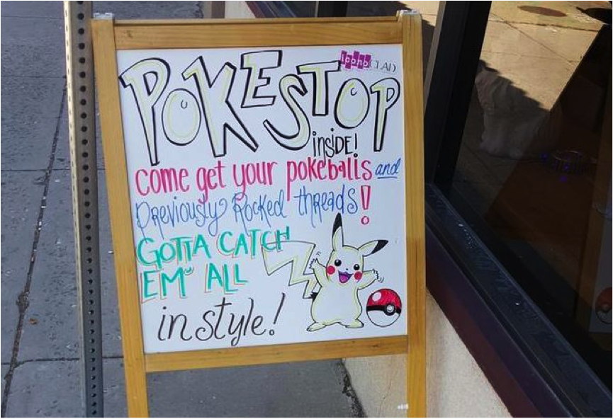 Pokemon Go Pokestop Retailer Advertising Sign